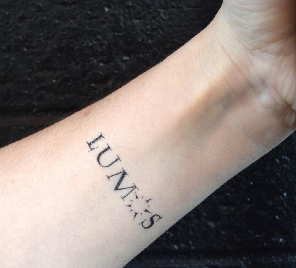 Harry Potter Lumos Nox Temporary Tattoo Above The Skin