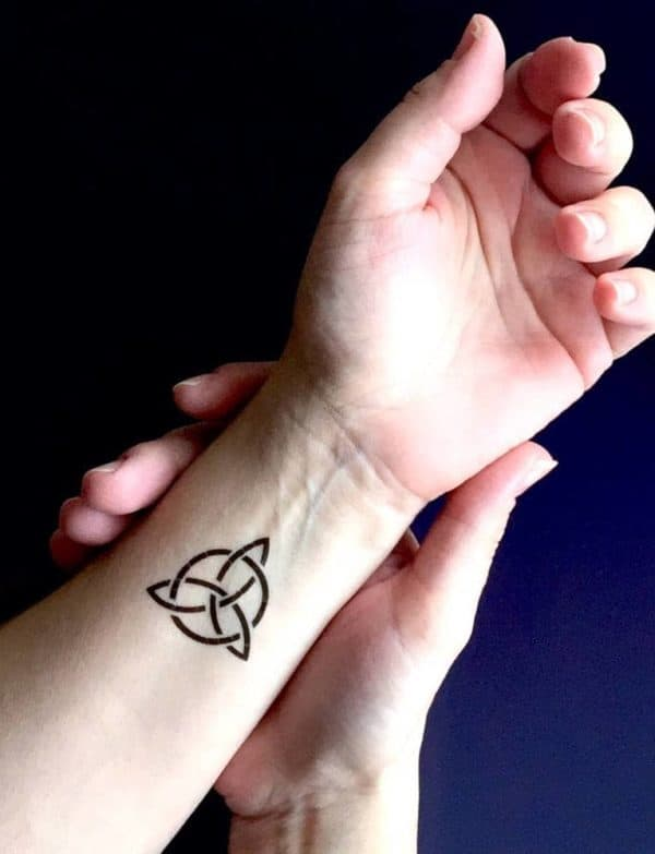 triquetra temporary tattoo