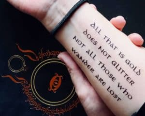 all that is gold temporary tattoo