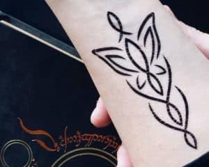 evenstar temporary tattoo