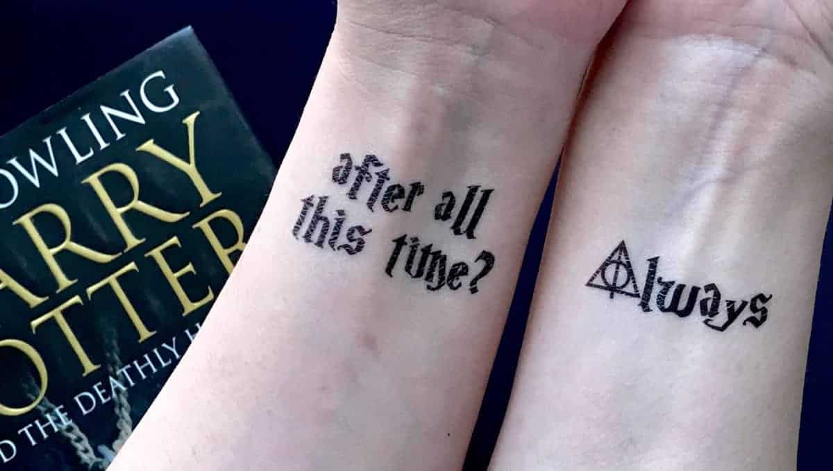 Harry Potter After All This Time And Always Temporary Tattoos