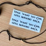 """Take what you can, give nothing back"" - pirate inspired quote tattoo (set of two)"