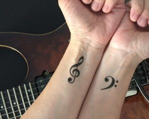 Musical temporary tattoos