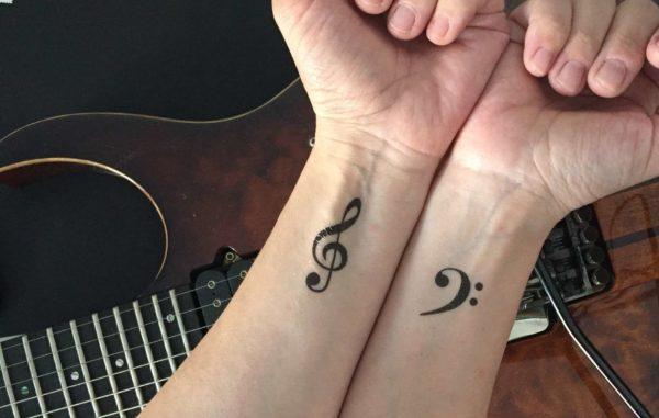 Musical temporary tattoos