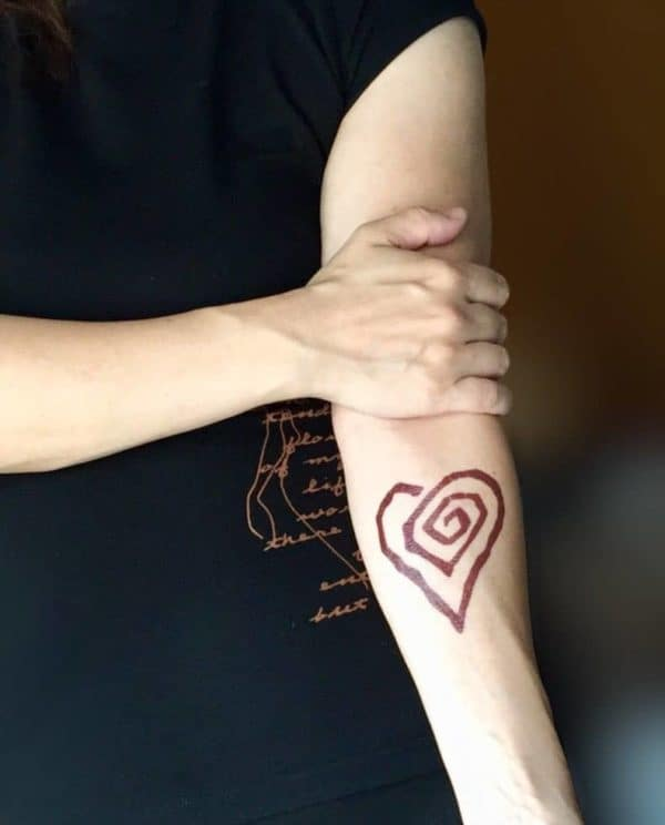 Marilyn Manson temporary tattoo