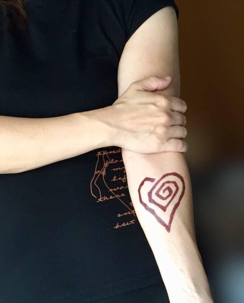 Marilyn Manson Heart Tattoo: Marilyn Manson Heart Shaped Temporary Tattoo